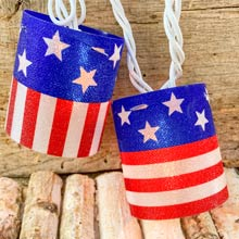 Stars & Stripes Lantern String Lights PD-724F611E