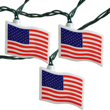 US American Flag Party String Lights