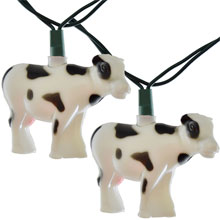 Farm Animal Cow String Lights