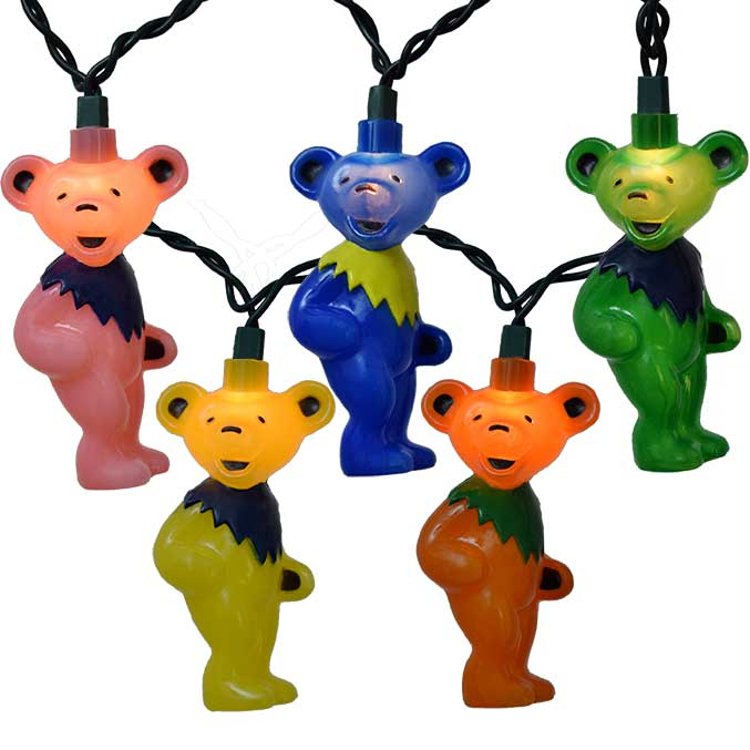Grateful Dead Bears Party String Lights GD9141