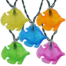 Colorful Tropical Fish Party String Lights