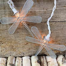 Silver Dragonfly Wire Party String Lights BS-61900