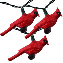 Red Cardinal Party String Lights
