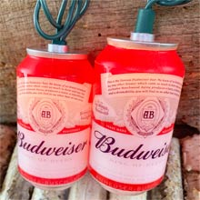 Budweiser Can Party String Lights - 10 Lights AB9131