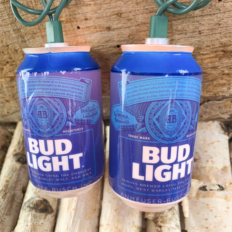 Bud Light Beer Can Party String Lights AB9132