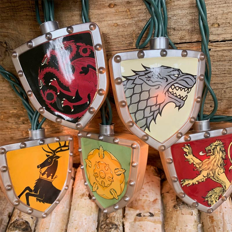 Game of Thrones House Sigil Shield String Lights