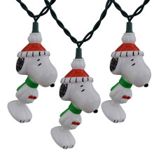 Peanuts Snoopy Christmas Novelty Light Set