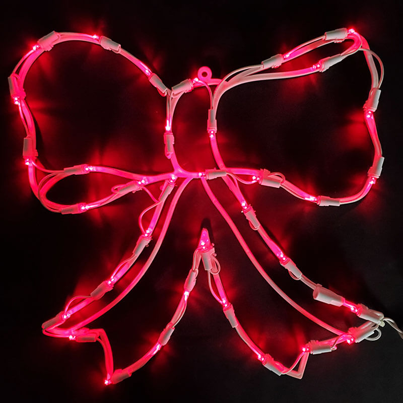 35L LED Red Bow Window Décor VM-490542