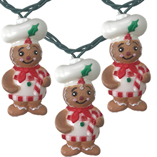 Gingerbread Chef Party String Lights - 11.5 ft. UL4322