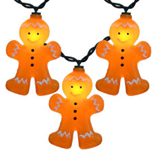 Gingerbread Christmas Novelty String Light Set