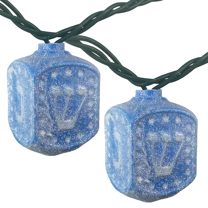 Hanukkah Dreidel Party String Lights - 11.5 ft. UL4327
