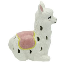 DE-11823P Ceramic Llama Nightlight