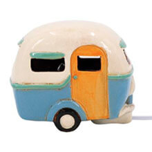 DE-13660 Ceramic Happy Camper Nightlight