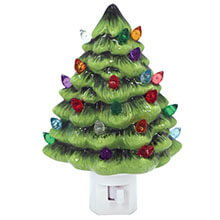 DE-14273 Ceramic Vintage Christmas Tree Nightlight
