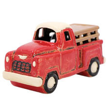 DE-14331Ceramic Red Truck Nightlight