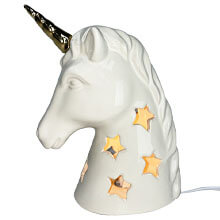 DE-70133 Ceramic Unicorn Nightlight