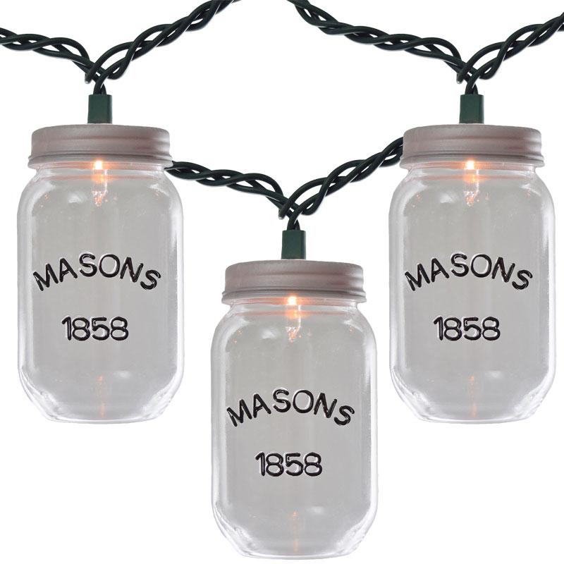 Clear Rustic Mason Jar String Lights