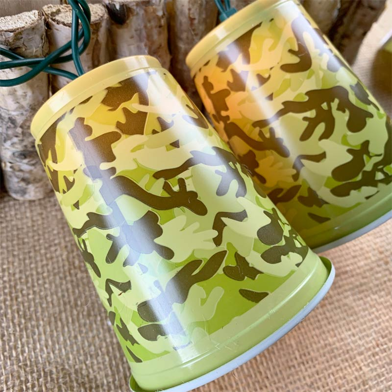 Camouflage solo cup party string lights, novelty string lights