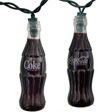 Coca Cola Soda Bottle Party String Lights