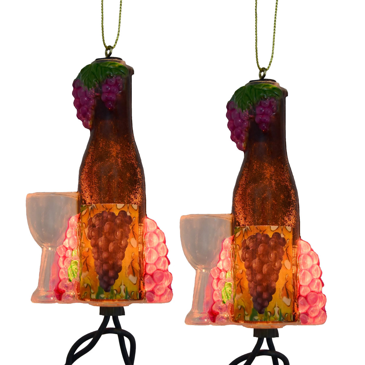 Grape String Party Lights : Wine Bottle & Glass Party String Lights