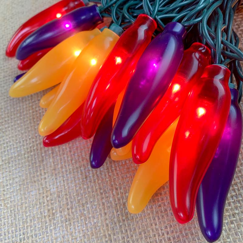 Autumn Harvest Chili Pepper String Lights - 50 Lights CN-35AH