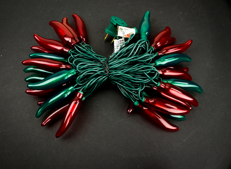 Red And Green Chili Pepper String Lights 50 Lights