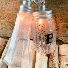 Salt & Pepper Shaker Party String Lights - 10 Lights