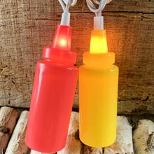 Ketchup/Mustard Party String Lights
