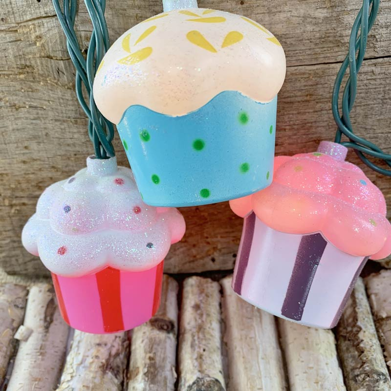 Cupcakes Party String Lights Set