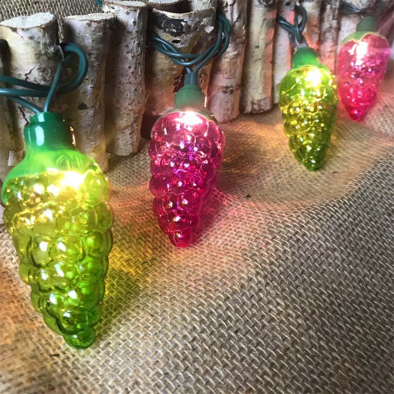 Outdoor Hanging Grape Lights: Grape Vine Party String Lights