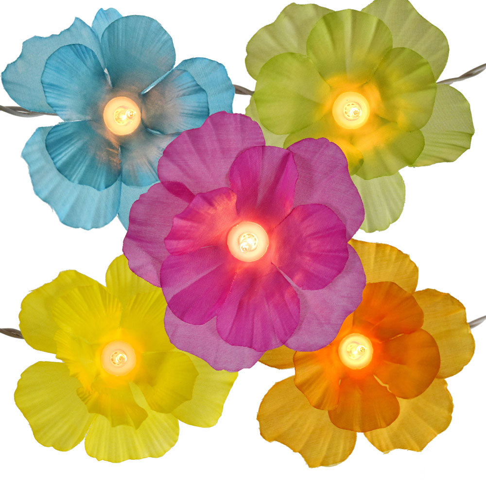 Hibiscus flower party string lights izmirmasajfo