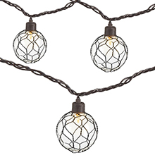 Chicken Wire Globe String Lights - 10 Lights GC2402330