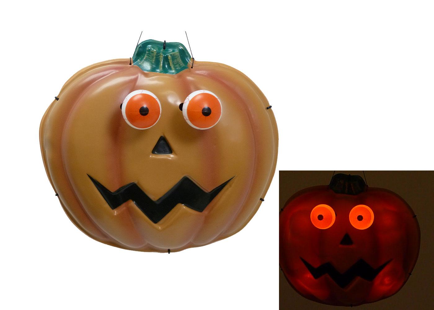 creepy eyes pumpkin halloween windowdoor hanging light