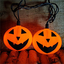 Halloween Jack- O-Lantern String Lights DE-14060