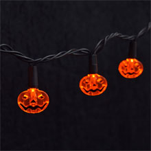 Electric LED Halloween Pumpkin String Lights