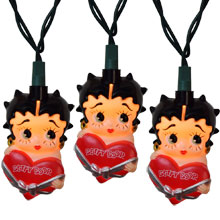 Betty Boop with Heart Party String Lights BB9141