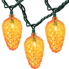 Pinecone Party String Lights - 10-Count DE-65067