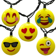 Emoji Party String Lights - 10 Lights