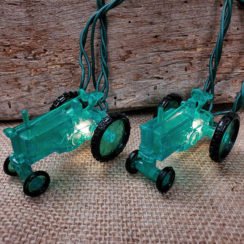 Green Tractor Party String Lights UL0527GR