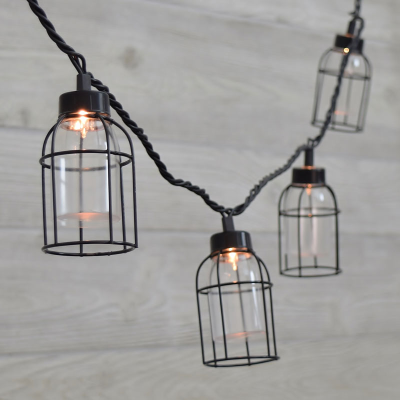 caged lighting. Vintage Style Edison Cage String Lights Caged Lighting B