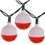 Bobber fishing party string lights