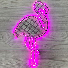 "Metal LED ""Flamingo"" Pink Marquee Sign - 9 1/4""L x 20 1/2""H          CCO-5371"