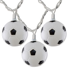 Soccer Ball Party String Lights - 10 Lights DE-70211
