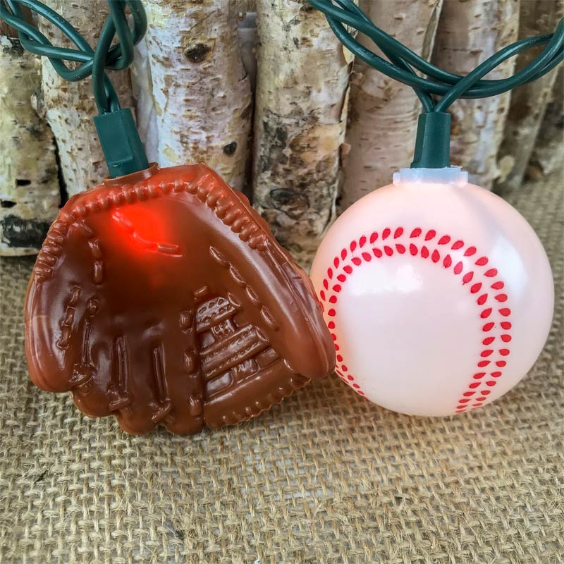 Baseball and Glove String Lights