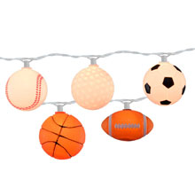 Mixed Sports Ball Party String Lights