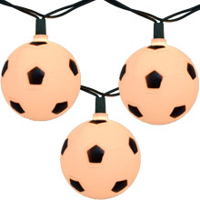 Bunch O' Soccer Balls Party String Lights