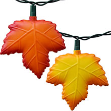 Autumn Leaf Party String Lights