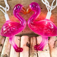 Pink Flamingo Party String Lights - 10 Lights DE-75012