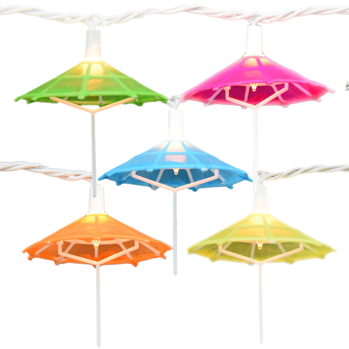Mini Umbrella Party String Lights 10 Lights
