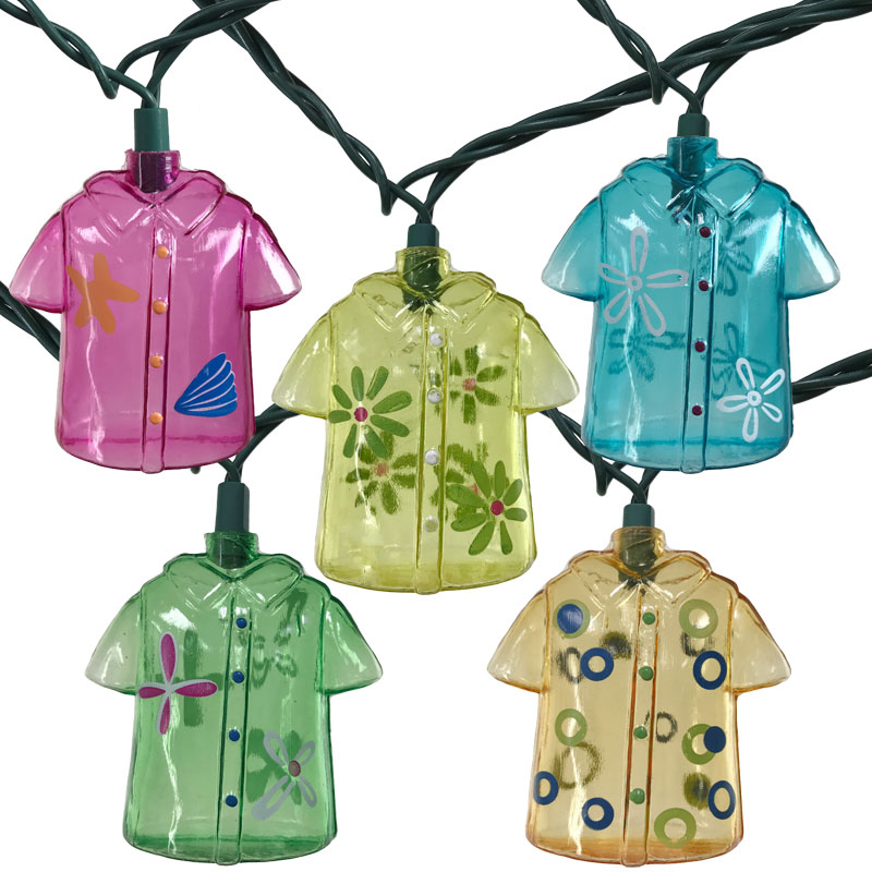 Hawaiian Beach Shirt Party String Lights - 10 Lights